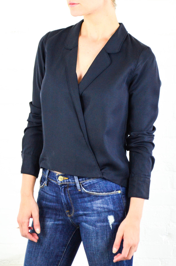 Capulet Navy Cassidy Crossover Blouse
