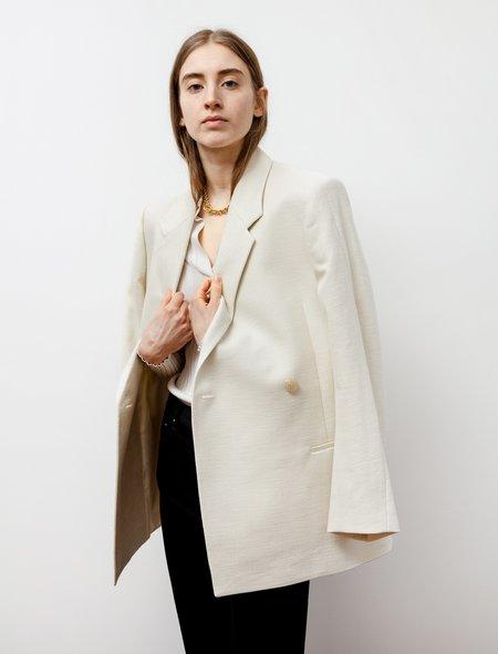 Totême Loreo Sharp Suit Jacket - Eggshell