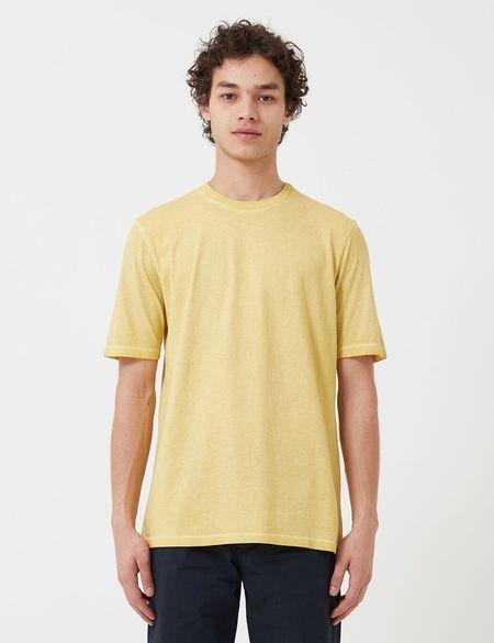 Folk Clothing Folk Contrast Sleeve T-Shirt (Cold Dye) - Light Gold