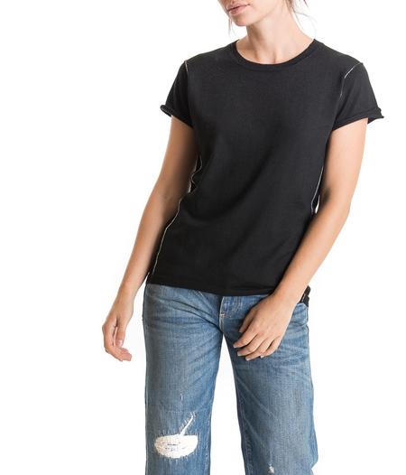 Paychi Guh crew neck worsted cashmere t-shirt - black