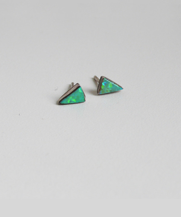 Erica Weiner Isosceles Opal Earrings