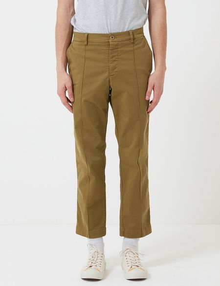 YMC Hand Me Down Twill Trousers - Olive Green