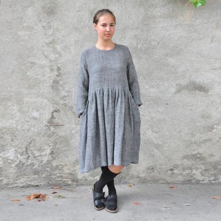 Le Vestiare de Jeanne Long Sleeved Dress - Grey Linen