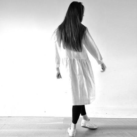 Le Vestiare de Jeanne Shirt Dress - White Linen