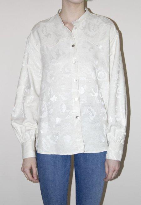 R.G. Kane Jacquard Cowboy Shirt - Natural
