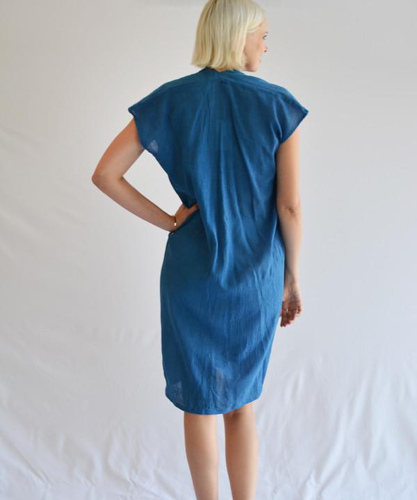 Miranda Bennett Indigo Gauze Everyday Dress