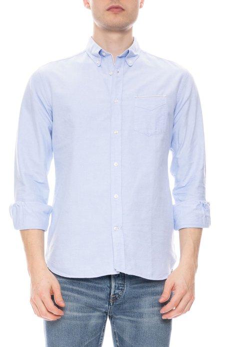 Officine Generale Japanese Selvedge Oxford Shirt - SKY