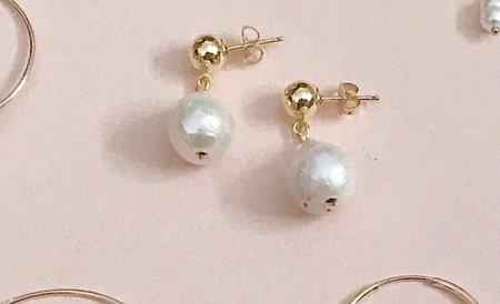 Pegs Hardware Pearl Drop Earrings Pearl