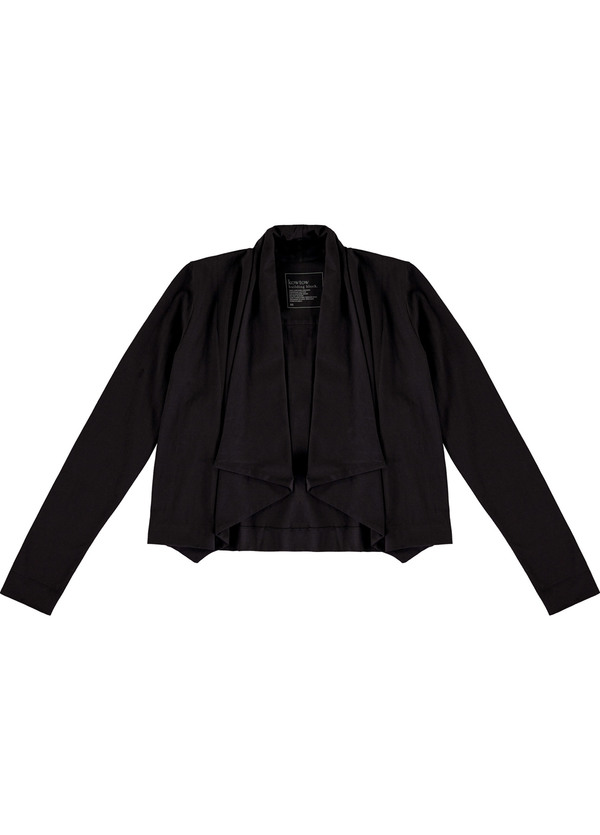 Kowtow Building Block Drape Cardigan Black