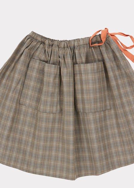 Kids Caramel Norton Skirt - Check Grey
