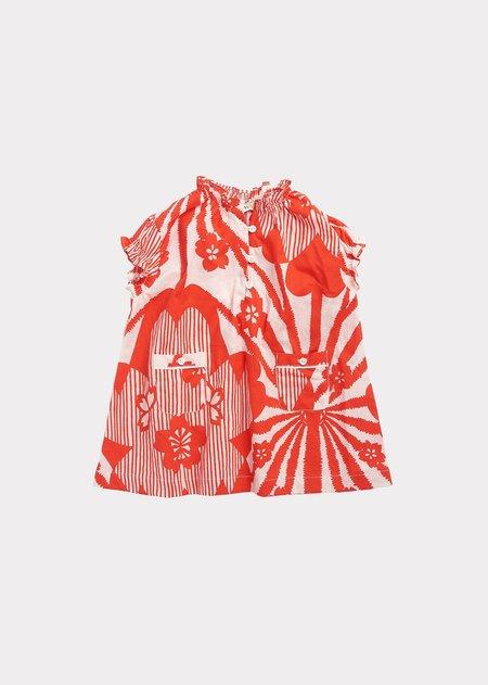 Kids Caramel Notting Hill Baby Dress - Red Flower Print