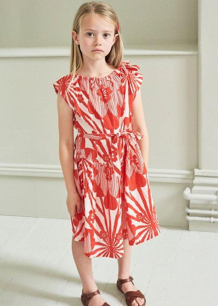 Kids Caramel Notting Hill Dress - Red Flower Print