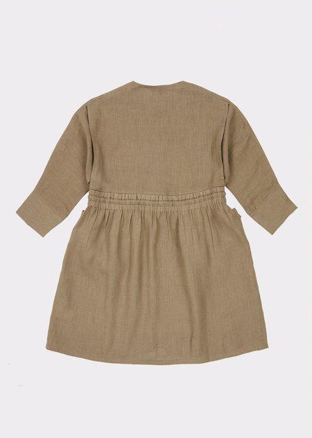 Kids Caramel Paddington Dress - Sage Green