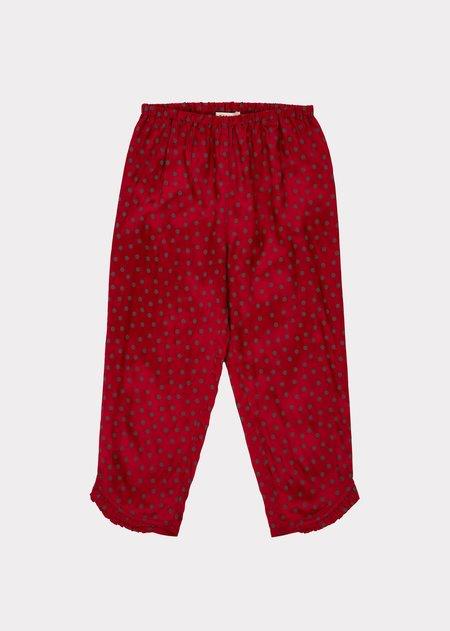 kids Caramel Tamarisk Trouser - Crimson Dot