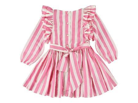 kids morley laynah prato dress - fuschia