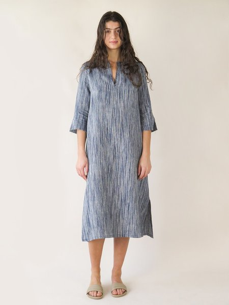 Erica Tanov maeve dress - indigo sketch stripe