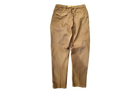 White Sand 88 Elastic Waist Poplin Trousers - Green