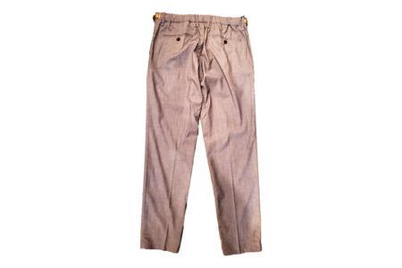 White Sand 88 Elastic Waist Wool Trousers - Grey