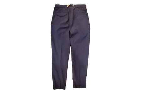 White Sand 88 Elastic Waist Crepe Trousers - Navy