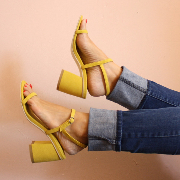 Rafa Simple sandal - yellow