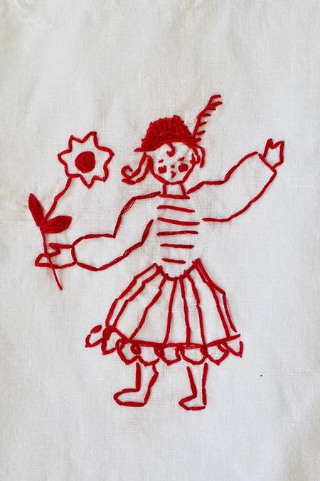 kids Maude Made x Sherie Muij Mini Embroidered Shirt
