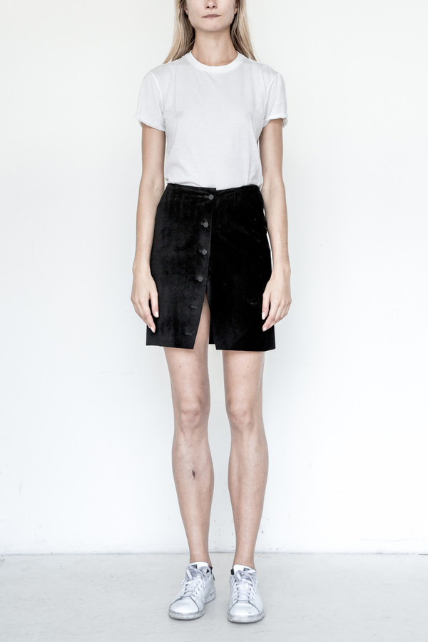 Assembly New York Suede Mini Wrap Skirt