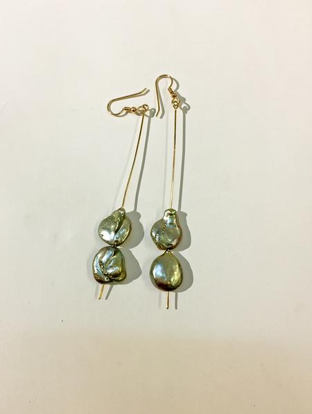 Duo Nori Pearl Earring - Green