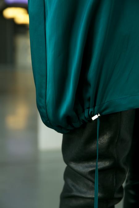 Ilaria Nistri satin tunic cap sleeve dress - deep jade