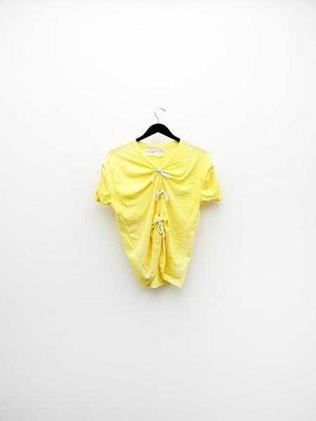 Audrey Louise Reynolds T-Shirt w/Ties - Yellow