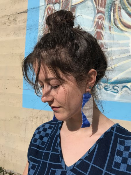 Salihah Moore Mari Earrings - 14kt gold fill/Clear/Klein