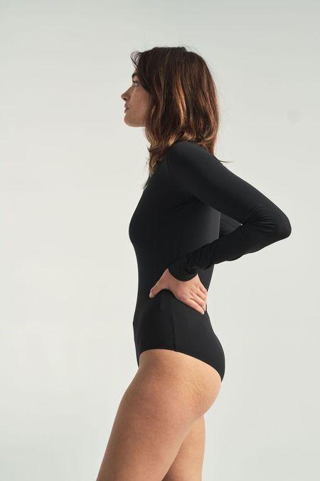 MM6 by Maison Margiela Logo Bodysuit - Black