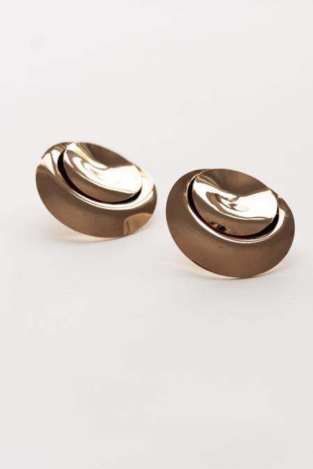 A. B. Ellie Spheric Stud Earrings - 14K Gold