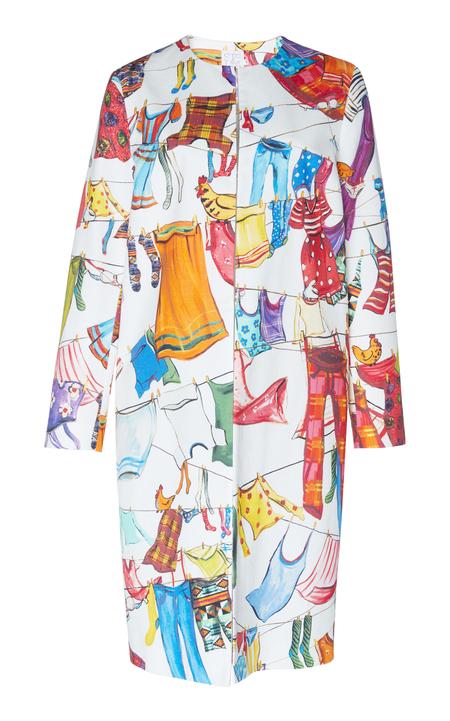 Stella Jean cotton midi statement coat