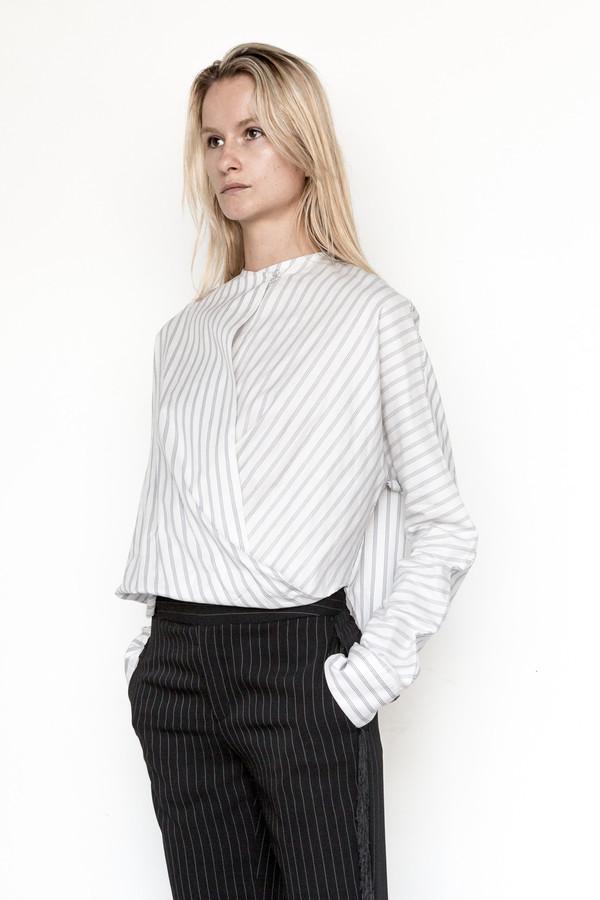 Assembly New York Cotton Stripe Twist Top