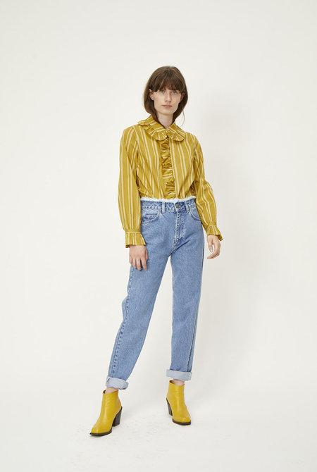 Just Female Giva Blouse - Amber Stripe