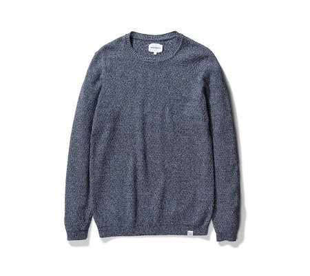 Norse Projects Sigfred Cotton Stitch Sweater - Indigo