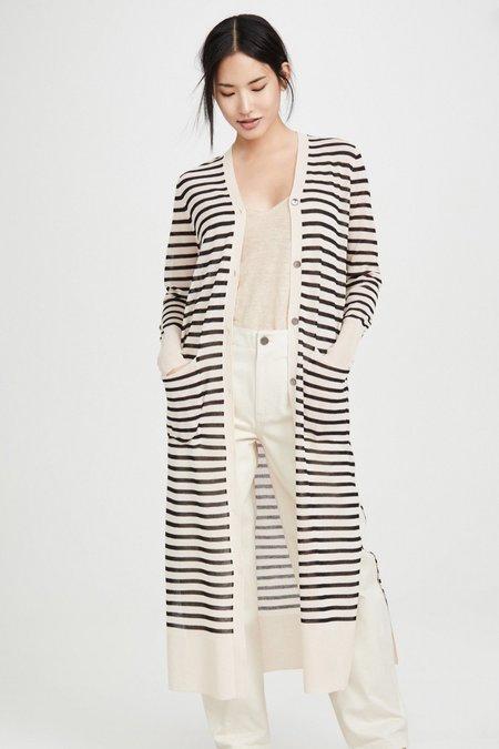 Line & Dot Naomi Stripe Duster Cardigan
