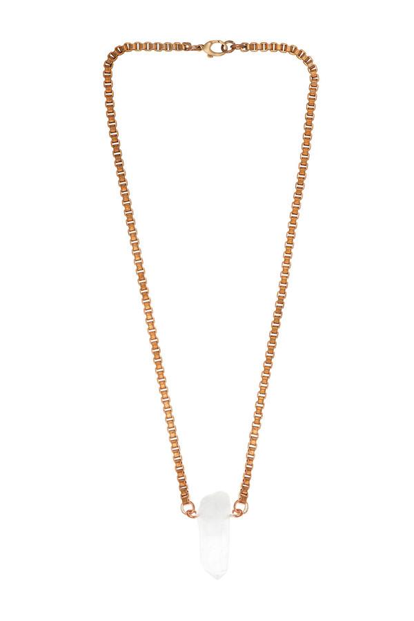 Ali Grace Rose Gold Crystal Necklace