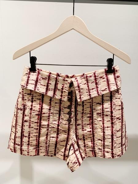 Ulla Johnson denim tie dye kase short - blush