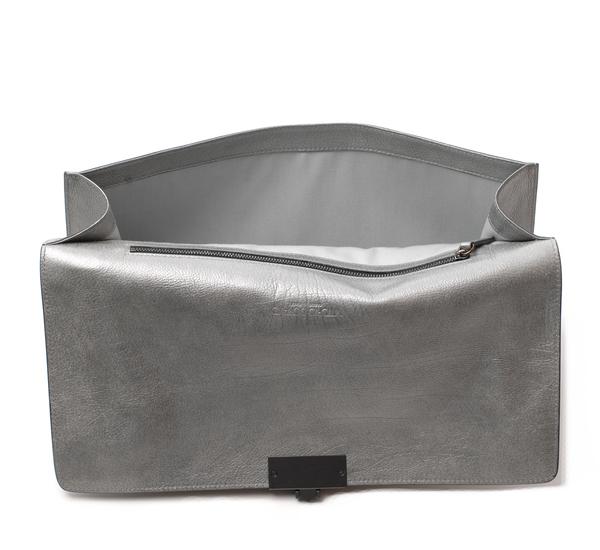 Vittorio D'Ottavio Silver Metallic Marlene Bag