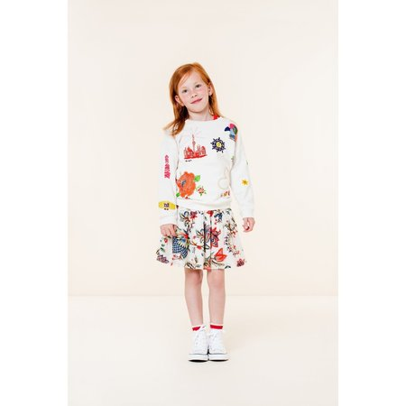 Kids oilily sirene skirt - floral print