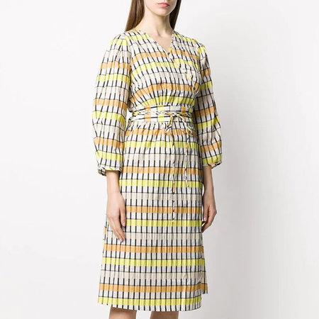 Baum und Pferdgarten Abylene Dress - Peach/Yellow/Black Check
