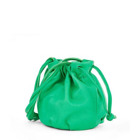 Clare V. Emma Drawstring Cinched Bag - Parrot Green