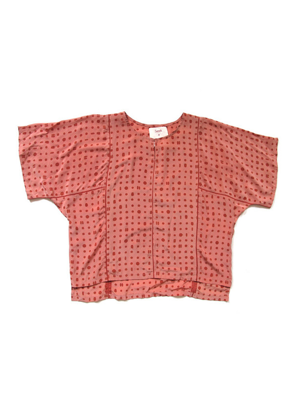 Seek Collective Sample Sale / Jynne Top, pink portals print