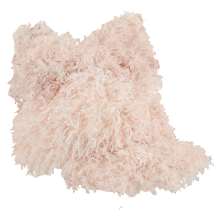 caroline bosmans frill cap with bow - pink