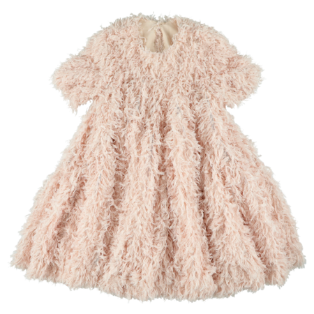 caroline bosmans wide frill dress pink