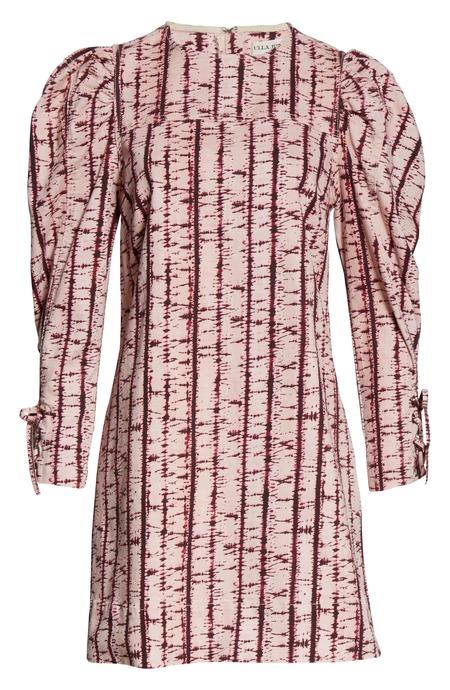 Ulla Johnson denim tie dye dress - blush tie dye