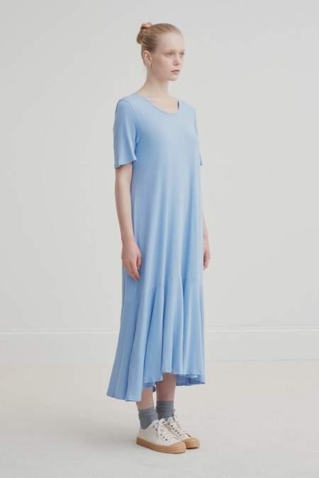 Kowtow Flare Hem Dress - Dusk Blue