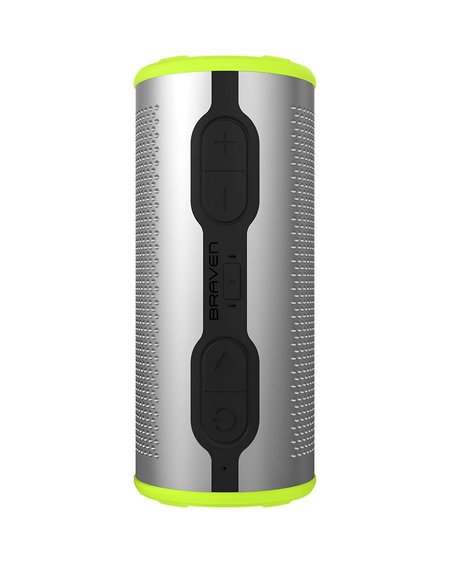 Braven Stryde 360 Bluetooth Speaker - SILVER/GREEN