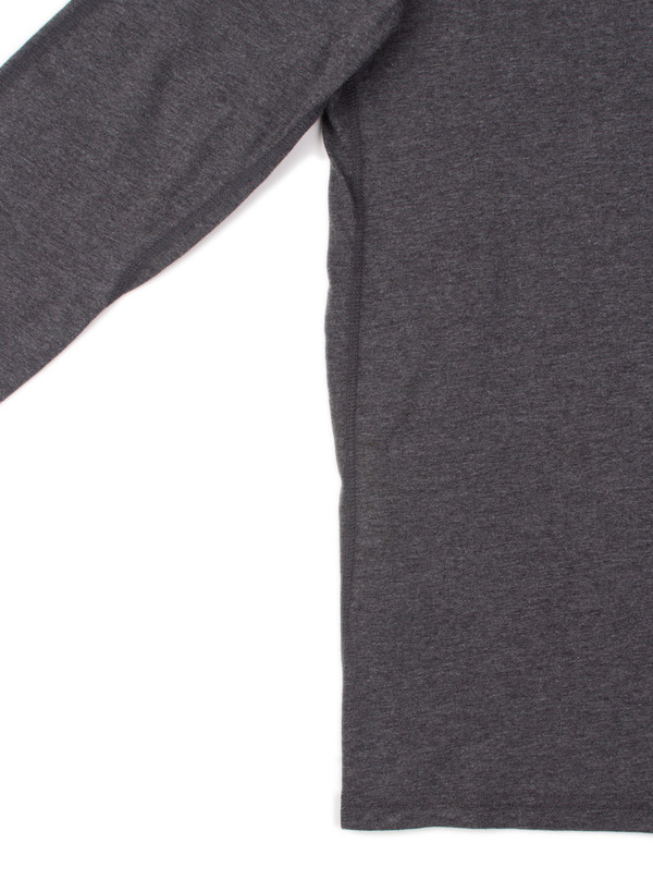 Reigning Champ Ringspun Jersey Long Sleeve Henley H. Charcoal